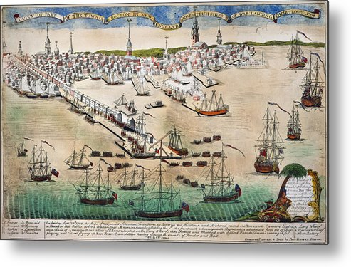 1768 Metal Print featuring the photograph British Landing, 1768 by Granger