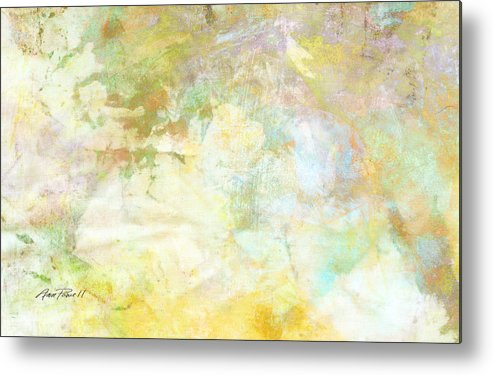 Abstract Metal Print featuring the digital art Celebrate Spring Abstract Art by Ann Powell
