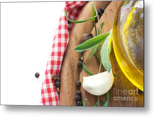Appetizer Metal Print featuring the photograph Cooking Ingredients by Mythja Photography