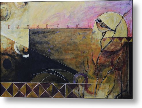 Landscape Metal Print featuring the painting Daybreak I by JS Bird