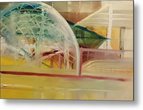 Metal Print featuring the painting Dome Under Construction by Gregory Dallum