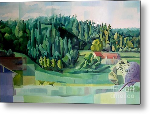 Forest Metal Print featuring the painting Forest Of L Hermitiere Or The Orchestra by Christian Simonian