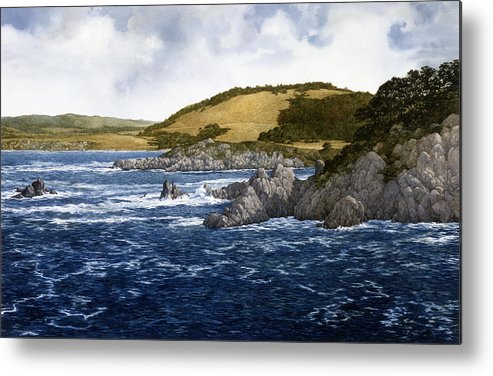 Seascape Metal Print featuring the painting Gambler's Paradise by Tom Wooldridge
