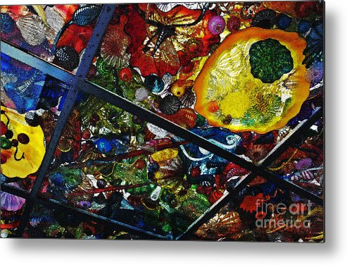 Glass Metal Print featuring the photograph Glass Ceiling Abstract by Valerie Garner