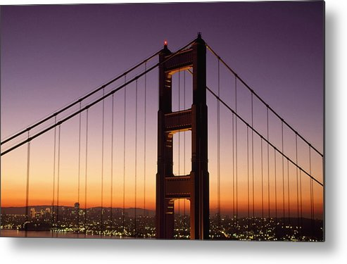 California Metal Print featuring the photograph Golden Gate Bridge Sunrise From Marin by Joe Beynon