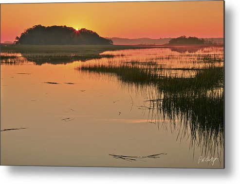 Beaufort County Metal Print featuring the photograph High Tide Sunrise by Phill Doherty