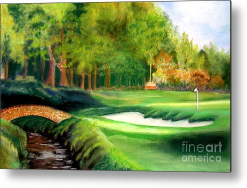 Golf Metal Print featuring the pastel Hole Number10 by Lamarr Kramer