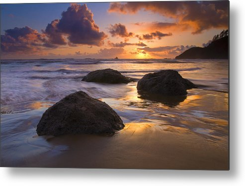 Sunset Metal Print featuring the photograph Pieces Of Eight by Mike Dawson