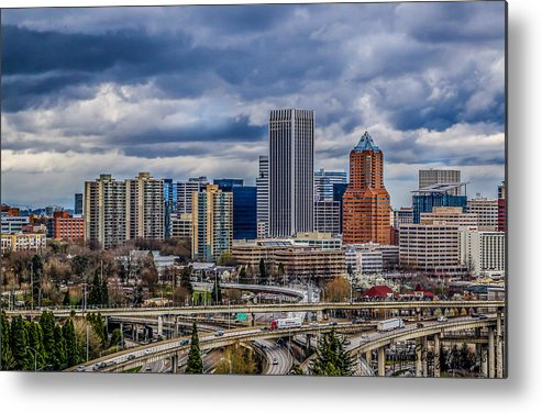 Oregon Metal Print featuring the photograph Portland by Jimmy Story