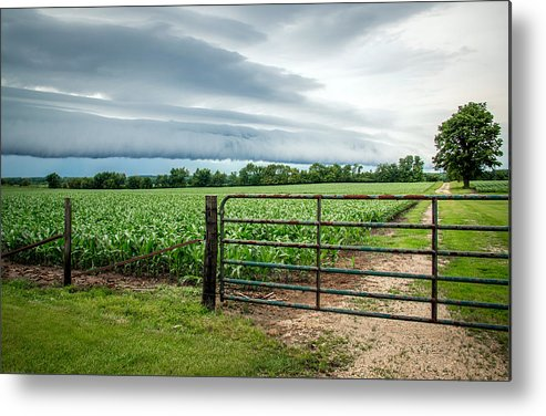 Fence Metal Print featuring the photograph Rural Storms by Debbie Orlando