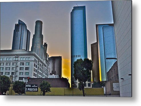 Cityscape Metal Print featuring the photograph Seeing Orange In La by Joe Burns