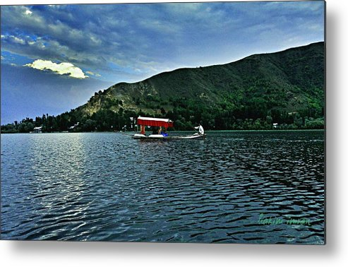 Shikara Metal Print featuring the photograph Shikara In Manasbal Lake by Hakim Imran
