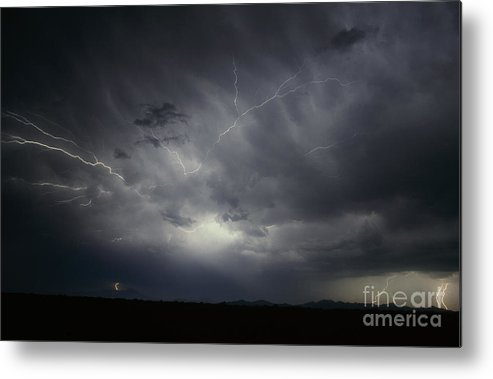 Lightning Metal Print featuring the photograph Sierra Blanca  Texas by J L Woody Wooden