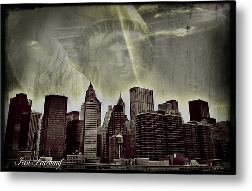 New York City Metal Print featuring the digital art The Grace Of Liberty by Ian Fruehauf