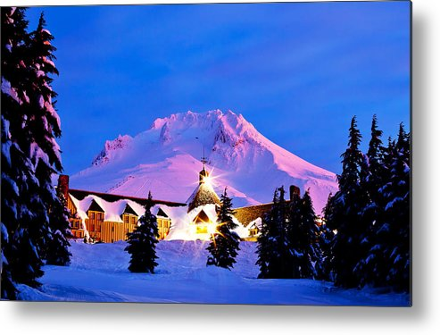 Timberline Lodge Metal Print featuring the photograph The Last Sunrise by Darren White