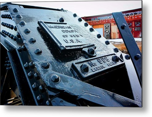 Evanston Metal Print featuring the photograph The Roundhouse Evanston Wyoming - 3 by Ely Arsha