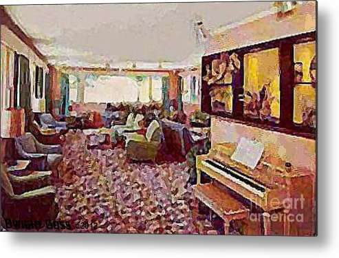 Lounges Metal Print featuring the painting The Windham Arms Lounge In Windham M Y by Dwight Goss
