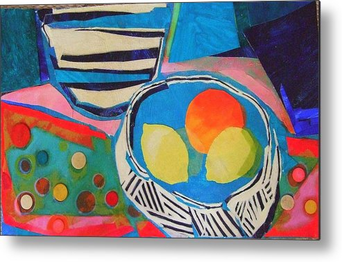 Mixed Media Still Life Metal Print featuring the mixed media Tiddly Winks by Diane Fine