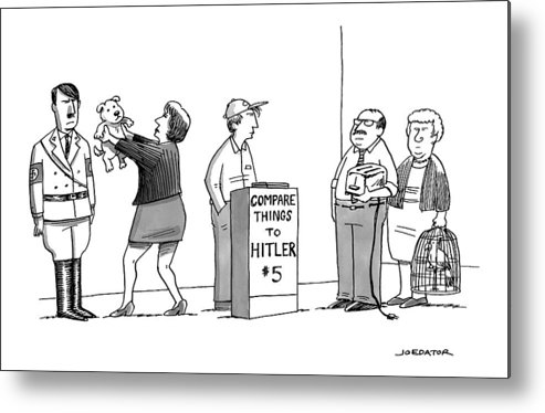 Hitler Metal Print featuring the drawing New Yorker September 5th, 2016 by Joe Dator