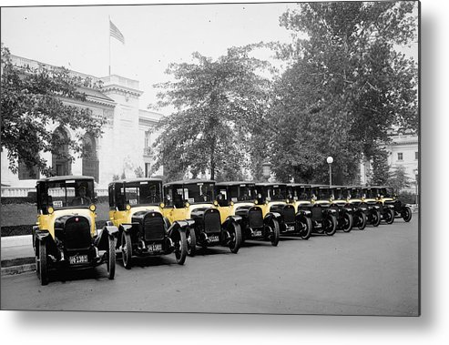 Taxis Metal Print featuring the photograph Vintage Taxis 3 by Andrew Fare
