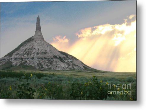 Metal Print featuring the photograph Chimney Rock by Paula Cork