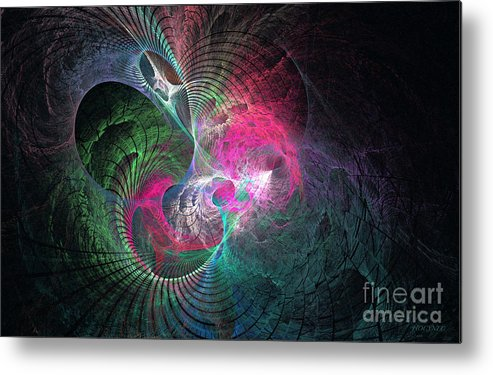 Digital Metal Print featuring the digital art Recesses Of The Mind by Addie Hocynec