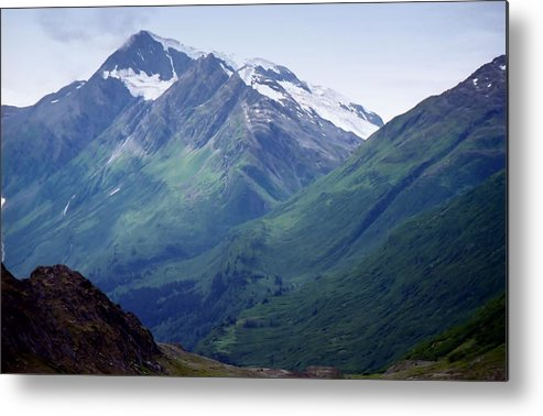 Photography Metal Print featuring the photograph Alaska Range 1 by Lynnette Johns