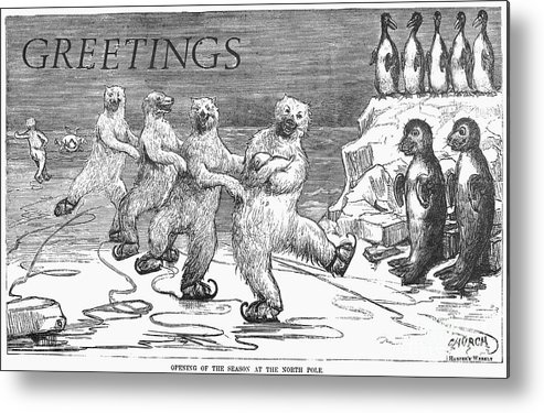 1875 Metal Print featuring the photograph Christmas: Polar Bears by Granger