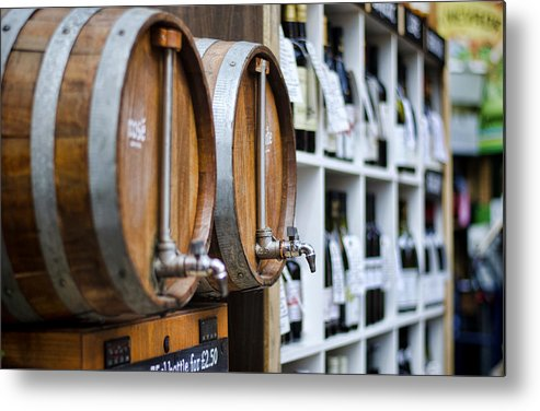Wine Metal Print featuring the photograph Diy Wine by Heather Applegate
