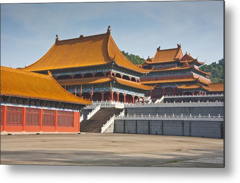 Horizontal Metal Print featuring the photograph Forbidden City by Huoguangliang