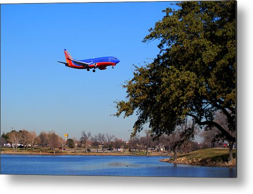 Landscape Metal Print featuring the photograph Love Field Landing by Wendy Emel