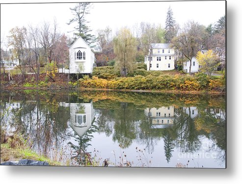 Quichee Falls Metal Print featuring the photograph New England Reflections 3935 by Charles Ridgway