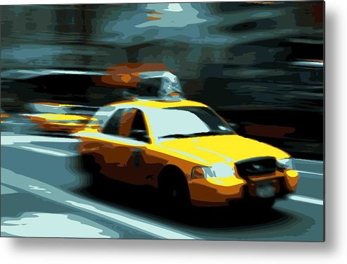 Taxi Metal Print featuring the photograph Nyc Taxi Color 16 by Scott Kelley