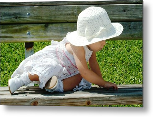 Child Photography Metal Print featuring the photograph Purity by Tammy More
