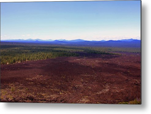 Lava Metal Print featuring the photograph Red Lava Bed by Kami McKeon