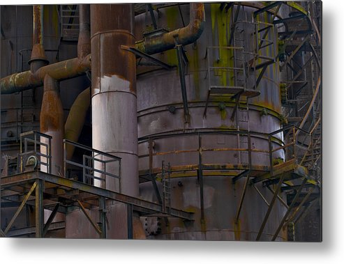 Still Life Metal Print featuring the photograph Structure.1603 by Gary LaComa