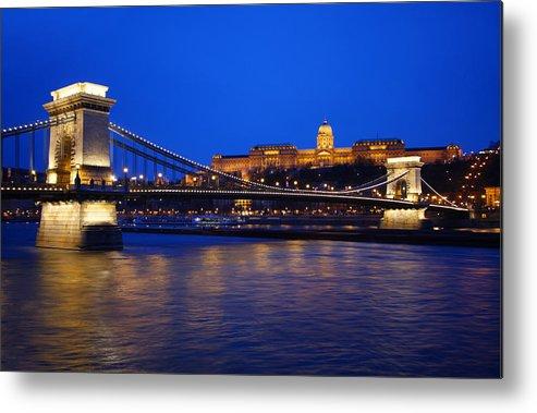 Szechenyi Metal Print featuring the photograph Szechenyi Bridge In Budapest by Dan Breckwoldt