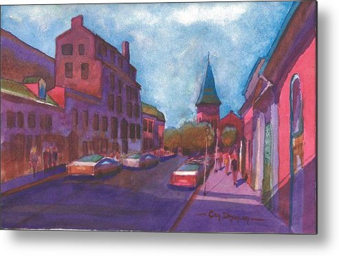Landscape Metal Print featuring the painting Town With Colors by Can Dogancan