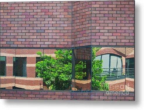 Architecture Metal Print featuring the photograph Wall Warp by Dan Holm