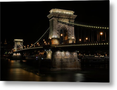 Tourism Metal Print featuring the photograph Budapest At Night. by Jaroslaw Blaminsky