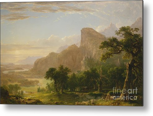 Landscape Scene From Thanatopsis Metal Print featuring the painting Landscape Scene From Thanatopsis by Asher Brown Durand