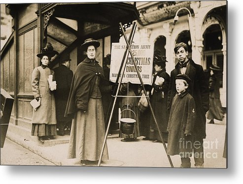 1908 Metal Print featuring the photograph Salvation Army, 1908 by Granger