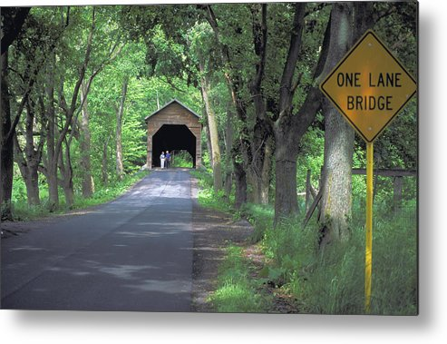 Covered Bridge Metal Print featuring the photograph Bridges Of Madison County by Carl Purcell