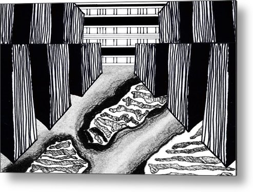 Abstract Metal Print featuring the digital art Digital Landscape 2 by Heather Brown