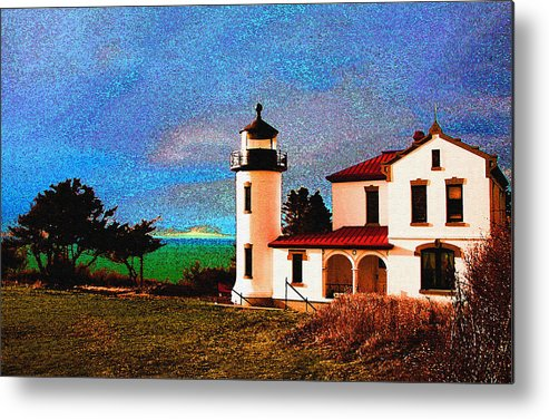 Lighthouse Metal Print featuring the photograph Admiralty Head Lighthouse Dp15 by Mary Gaines
