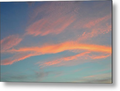 Abstract Metal Print featuring the photograph After Sunset Clouds In The West by Lyle Crump