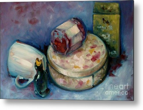 Tea Metal Print featuring the painting Afternoon Tea by K M Pawelec