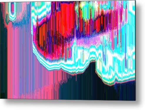 Abstract Metal Print featuring the digital art Astral3 by Lyle Crump