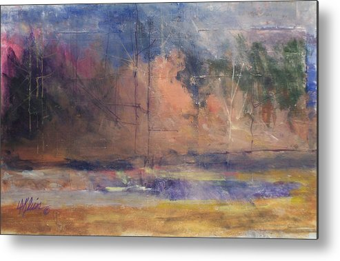 Impresstionist Metal Print featuring the painting Autumn Pond by Dalas Klein
