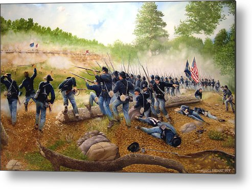 Civil War Metal Print featuring the painting Battle Of Utoy Creek by Marc Stewart
